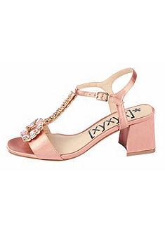 XYXYX Sandále na vysokom podpätku s kamienkami