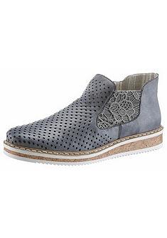 Rieker chelsea cipő horgolt betéttel