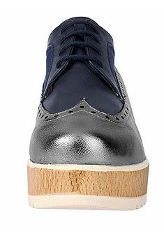 Heine fűzős cipő platform talppal