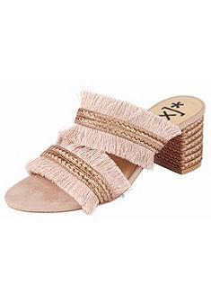 XYXYX Sandály na vysokém podpatku s třásněmi