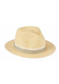 Seeberger Slaměný klobouk s lurexovým páskem