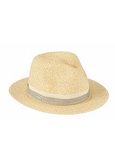 Seeberger Slamený klobúk s lurexovým pásikom