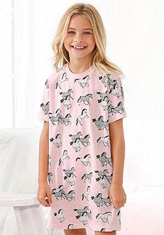 Petite Fleur Dětská noční košile s potiskem koní