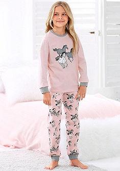 Petite Fleur Dívčí dlouhé pyžamo s potiskem koní