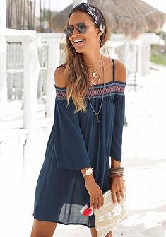 s.Oliver RED LABEL Beachwear Letní šaty s vyšívanou vsadkou