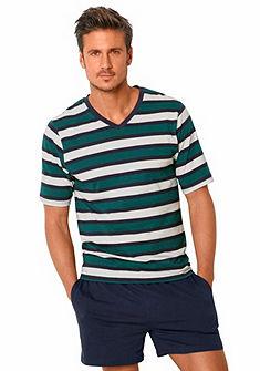 H.I.S Pánka pyžama krátka s farebnými blokmi