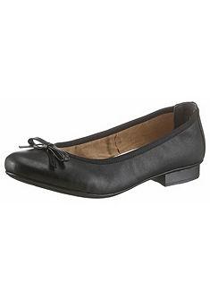 Rieker balerina bőr cipő divatos masnival díszítve