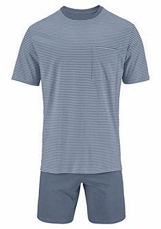 Schiesser rövid pizsama V-nyakkivágással és mellzsebbel