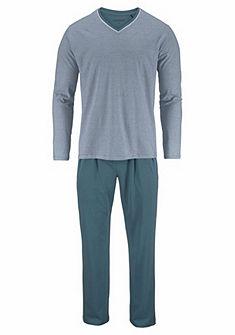Schiesser hosszú pizsama keskeny csíkos felsővel