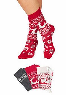Ponožky s vánočním vzorem (3 páry)