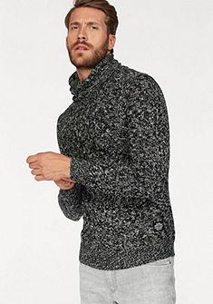 John Devin kötött melírozott pulóver Slim-fit fazonnal