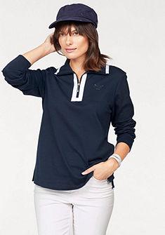 NAVIGAZIONE blu pulóver álló gallérral és cipzárral