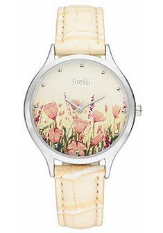 Firetti kvarc óra virágmintás számlappal