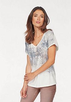 Laura Scott V-nyakú póló nyomott mintával