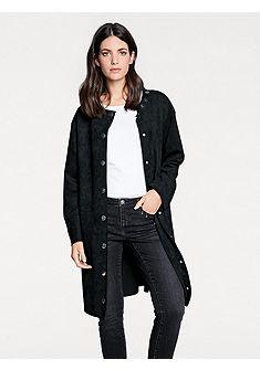 MODERN IDENTITY Koženkový kabát se skrytou knoflíkovou légou