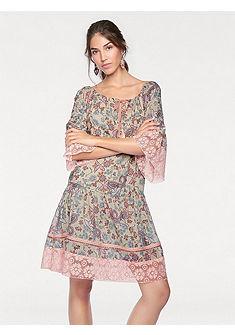 LINEA TESINI by Heine Vzorkované šaty s čipkou