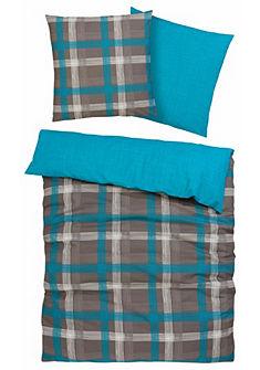 Kétoldalas ágynemű kockás mintával »Tenda«, my home