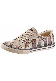 DOGO fűzős cipő vicces cica mintával »Yummy«