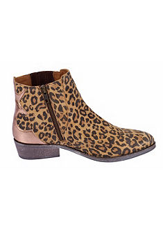 XYXYX Nízke čižmy, leopardia potlač