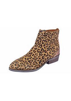 XYXYX Nízké kozačky, leopardí potisk