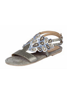 XYXYX Sandále s flitrami a kamienkami