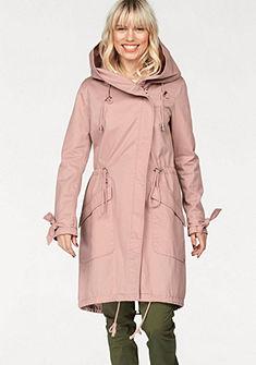 Tom Tailor Denim parka kabát kapucnival és rozéaranyszínú cipzárral
