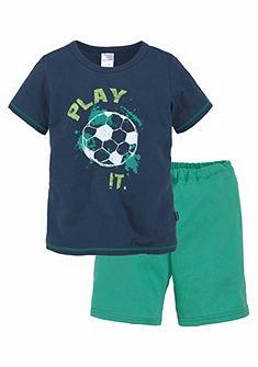 Schiesser fiú  pizsama rövid nadrágos mit Fußball Print
