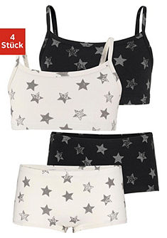 Arizona Podprsenka & kalhotky s hvězdičkou (4-dielne)