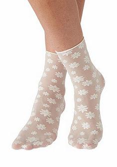 Sympatico Jemné ponožky v květinovém designu a třpytivými detaily
