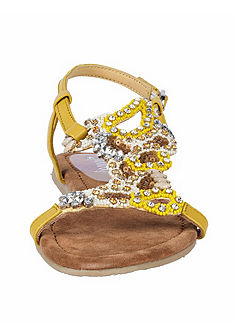 XYXYX Sandály s kamínky