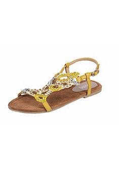 XYXYX Sandále s kamienkami
