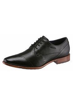 Daniel Hechter hegyes orrú fűzős bőr cipő
