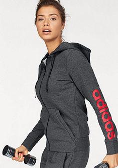 adidas Performance kapucnis hosszú ujjú felső »ESSENTIALS LINEAR FULLZIP HOODIE«
