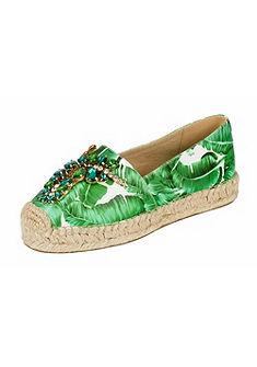XYXYX espadrille cipős cipő nyomott mintával és ékszerkövekkel