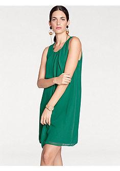 PAULO FANELLO Šifónové šaty s modernými záhybmi
