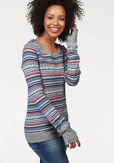 KangaROOS kereknyakú dzsörzé pulóver