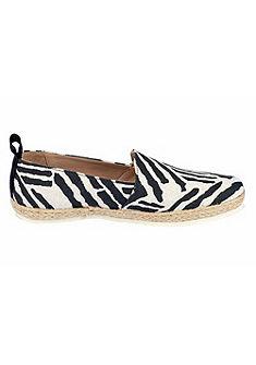 heine Nazouvací topánky, zebrový potisk