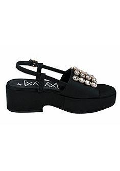 XYXYX Sandále s vysokým podpätkom a ozdobné kamienky