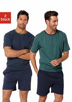 Le Jogger Pánké pyžamo krátké s proužky(2 ks)