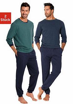 Le Jogger Pánké pyžamo dlouhá s proužky (2 ks)