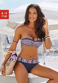 Merevítős bandeau bikini felső, LASCANA