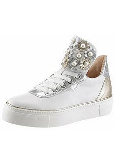 TINE'S plató talpú fűzős bőr cipő
