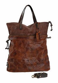 A.S.98 bőr táska cipzáras zsebbel és állítható pánntal