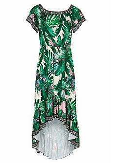 RICK CARDONA by Heine nyomott mintás ruha carmen nyakkivágással