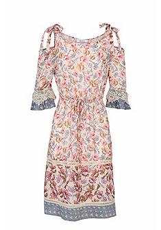 LINEA TESINI by heine Vzorované šaty s čipkami