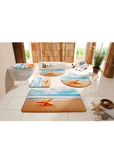 Fürdőszobaszőnyeg, my home selection, »Seestern«, vastagság 14 mm, memória habbal