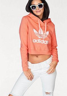 adidas Originals rövid fazonú kapucnis pulóver logó mintával »TREFOIL HOODIE«