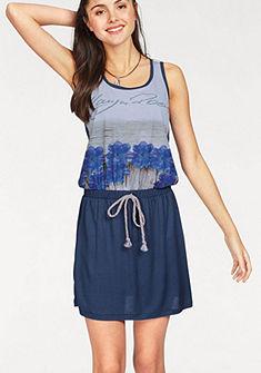 KangaROOS ujjatlan nyomott mintás ruha dzsörzé anyagból