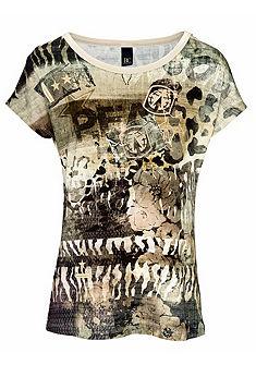 RICK CARDONA by Heine kereknyakú póló vágott vállal dzsörzé anyagból