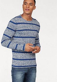 Tom Tailor Denim kereknyakú csíkos pulóver